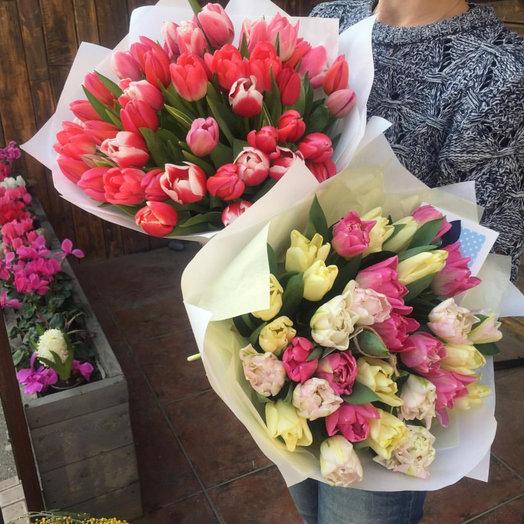Bouquet of 33pcs tulips