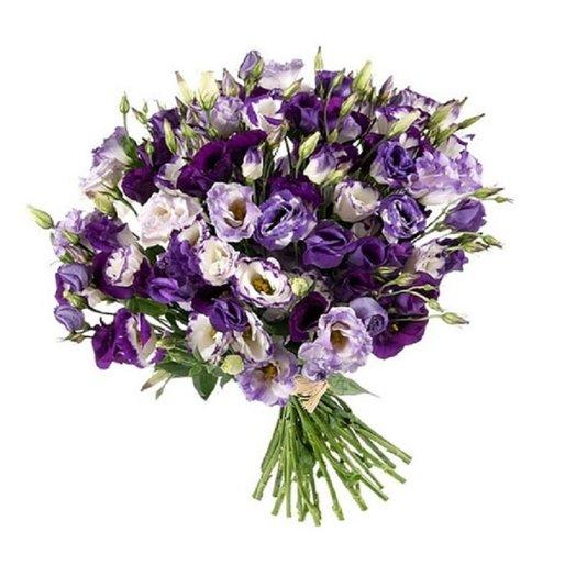 Букет из 31 эустомы, синяя: букеты цветов на заказ Flowwow