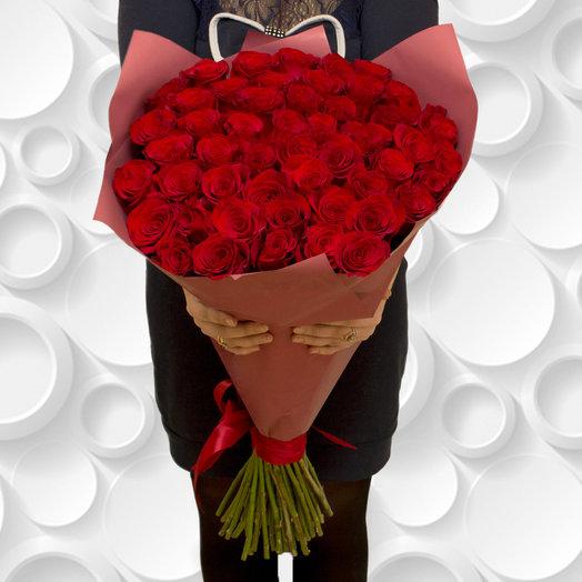Букет из высоких роз: букеты цветов на заказ Flowwow