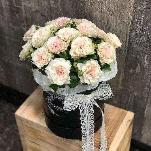 """Букет в шляпной коробке """"Классик"""": букеты цветов на заказ Flowwow"""
