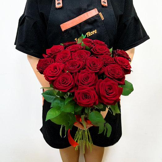 21 Красная роза 60 см