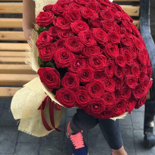 Акция Букет из 101 бордовой розы