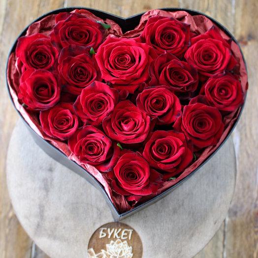 Композиция в сердечке: букеты цветов на заказ Flowwow