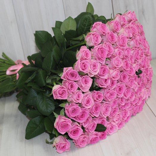 """101 розовая роза """"Аква"""": букеты цветов на заказ Flowwow"""