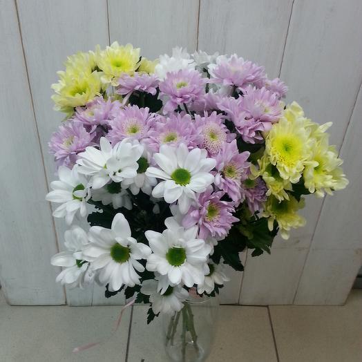 Букет из 7 хризантем микс: букеты цветов на заказ Flowwow