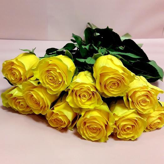 11 желтых роз под ленту: букеты цветов на заказ Flowwow