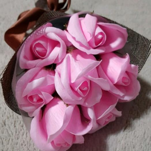РОЗА ИЗ МЫЛА. Нежность: букеты цветов на заказ Flowwow