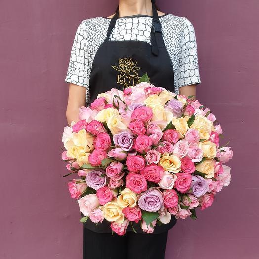 Большой милейших роз: букеты цветов на заказ Flowwow