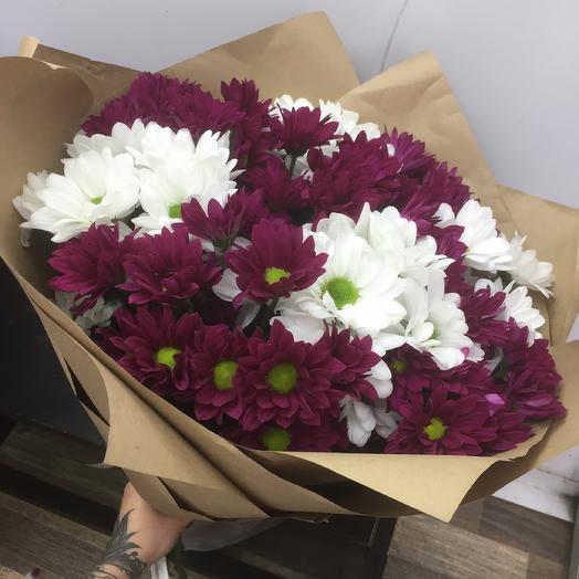Букет хризантем🌸: букеты цветов на заказ Flowwow