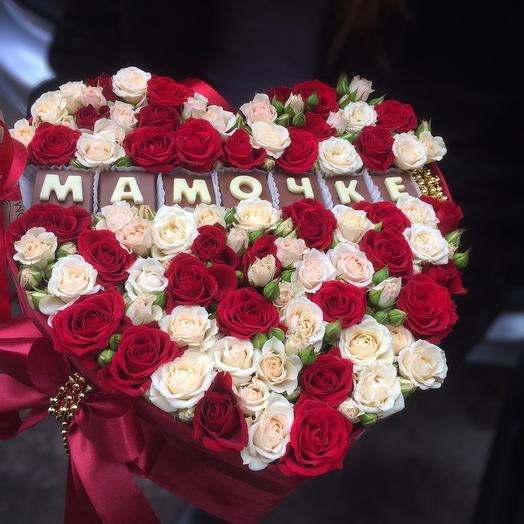 Коробочка «любимой мамочке»: букеты цветов на заказ Flowwow