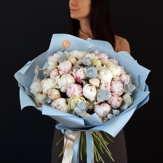 Букет пионов 35 штук: букеты цветов на заказ Flowwow