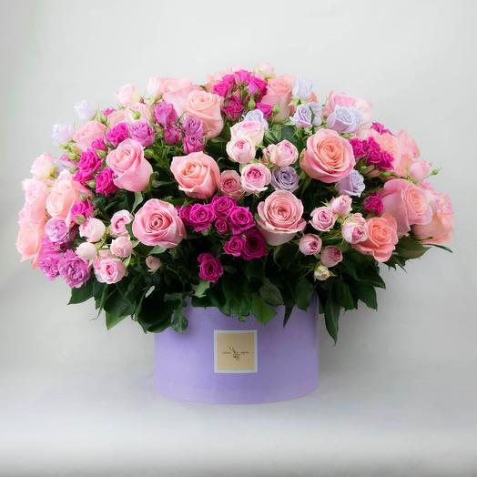 Композиция в розовых тонах (Большая)
