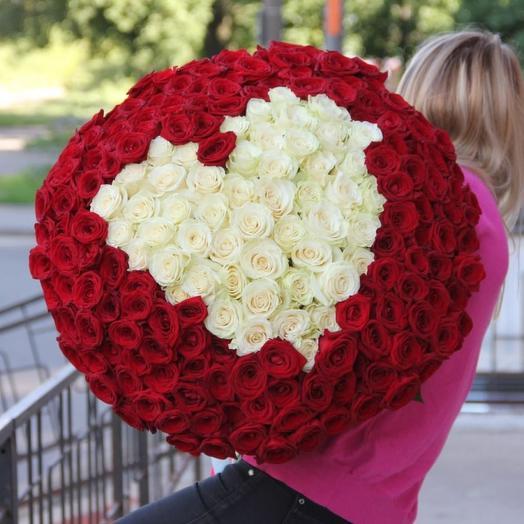 Букет из 301 розы на 14 февраля
