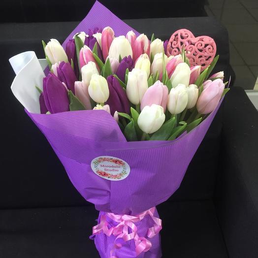 Сиреневое счастье: букеты цветов на заказ Flowwow
