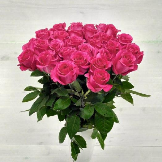 25 ароматных роз 70см
