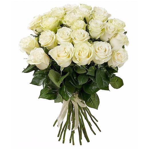 25 шикарных белых роз