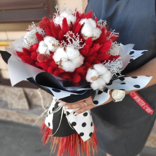 Букет Леди Гага (сухоцветы)