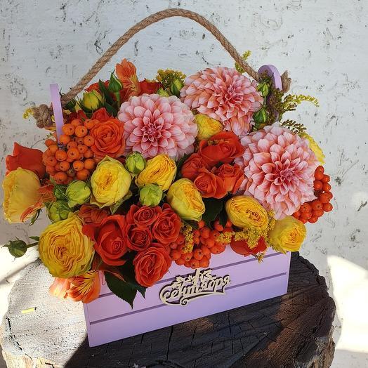 Ящик цветов