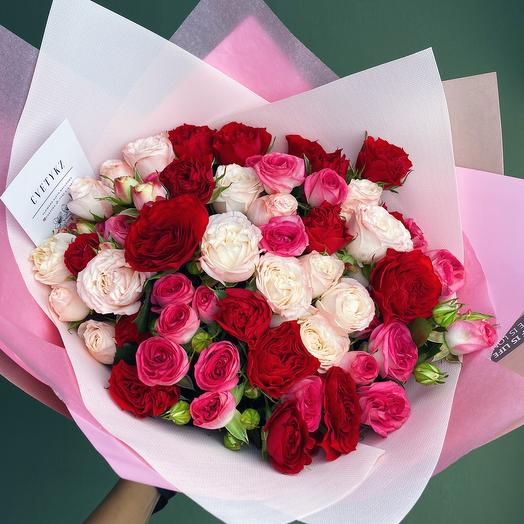 Cute spray roses