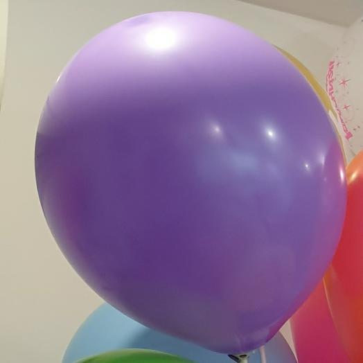 Шарик фиолетовый на палочке