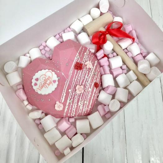 Шоколадное сердце сюрприз