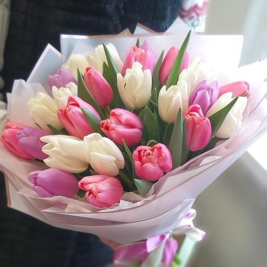 25 тюльпанов, Нежный микс
