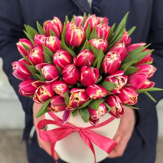 Коробочка Тюльпаны пионовидные