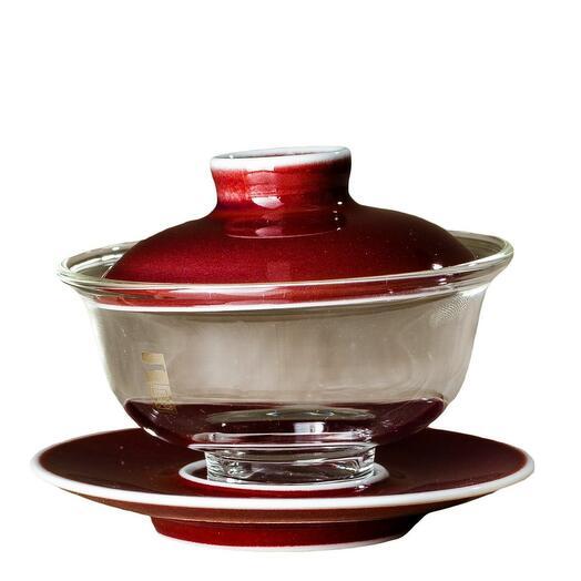 гайвань красная стекло/фарфор, 100 мл 1 шт