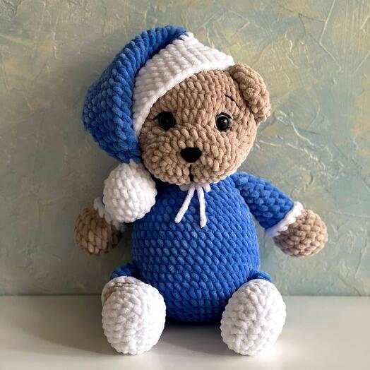 Мишка в пижаме мягкая игрушка
