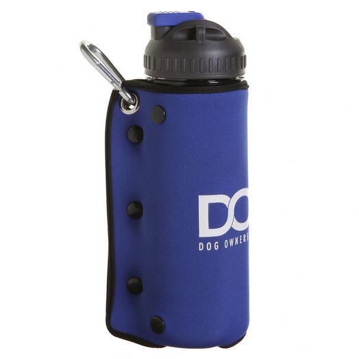Дорожный комплект для собак миска и бутылка 600 мл синий