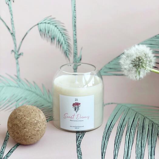 Ароматическая свеча Манго и кокосовое молоко