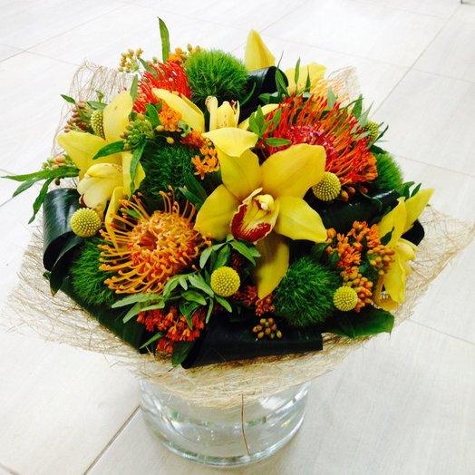 Букет экзотический коктейль: букеты цветов на заказ Flowwow