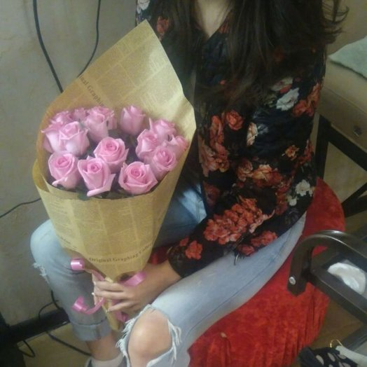 Ароматный букет из алма-атинских роз