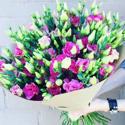 """Букет из эустом """"Настроение в подарок"""": букеты цветов на заказ Flowwow"""