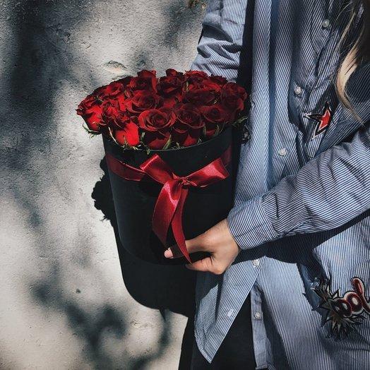 Шляпная коробка Мерси: букеты цветов на заказ Flowwow