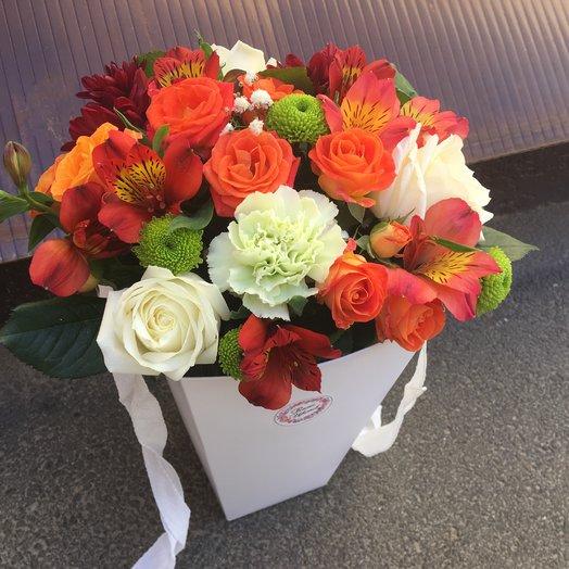 Трапеция «Огонь»: букеты цветов на заказ Flowwow