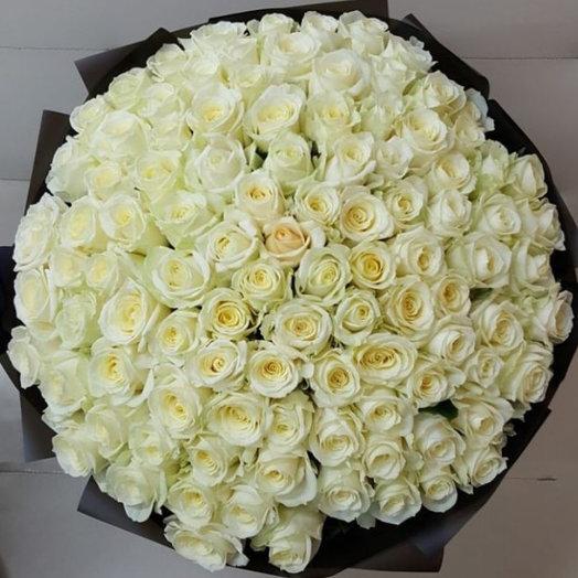101 белая роза : букеты цветов на заказ Flowwow
