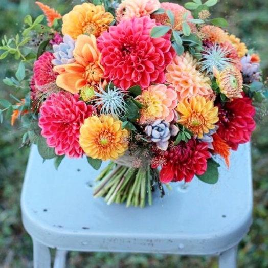 Облако георгин: букеты цветов на заказ Flowwow