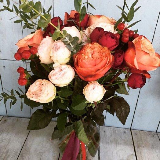 Осенний букет в вазе: букеты цветов на заказ Flowwow