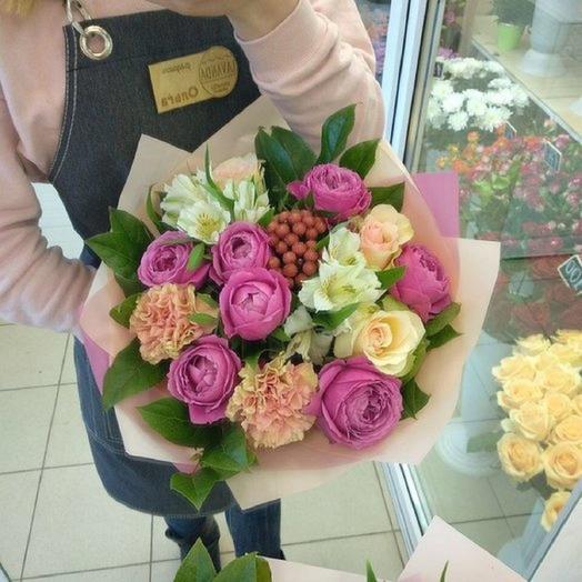 """Букет пионовидных роз """"Эллегия"""""""
