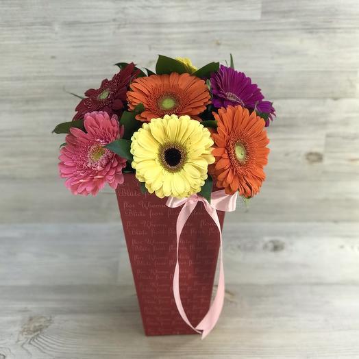 Герберы в конусе: букеты цветов на заказ Flowwow