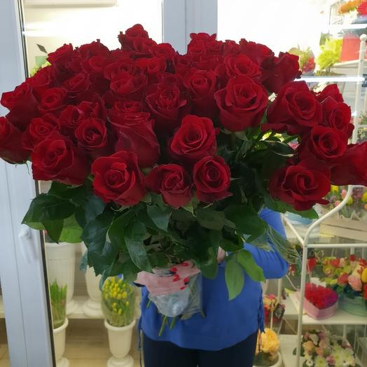 Роза Эквадор 70см: букеты цветов на заказ Flowwow