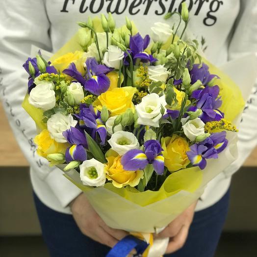 Розы. Авторский букет. N385: букеты цветов на заказ Flowwow