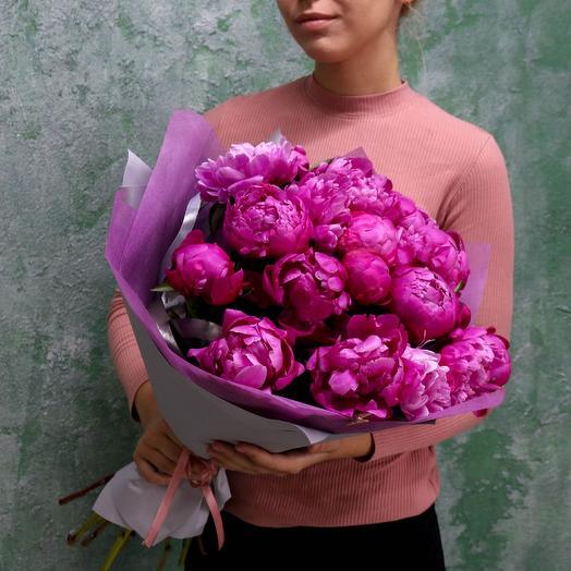 Яркие пионы: букеты цветов на заказ Flowwow