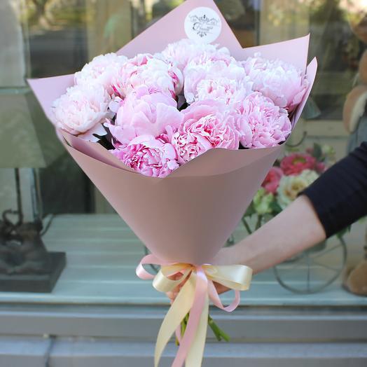 Букет из 11 пионов: букеты цветов на заказ Flowwow