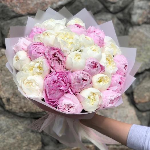 29 пионов: букеты цветов на заказ Flowwow