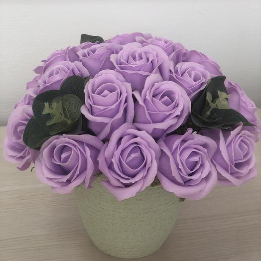 Букет 11 из мыльных цветов: букеты цветов на заказ Flowwow