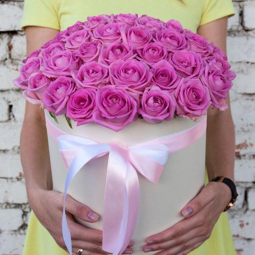 Коробка из 51 розовой розы