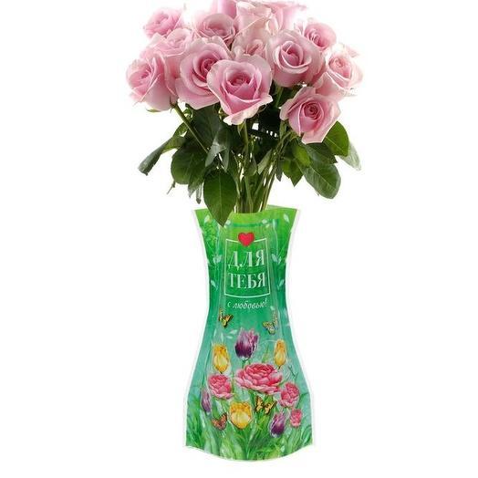 Роза любого цвета в пластиковой вазе: букеты цветов на заказ Flowwow