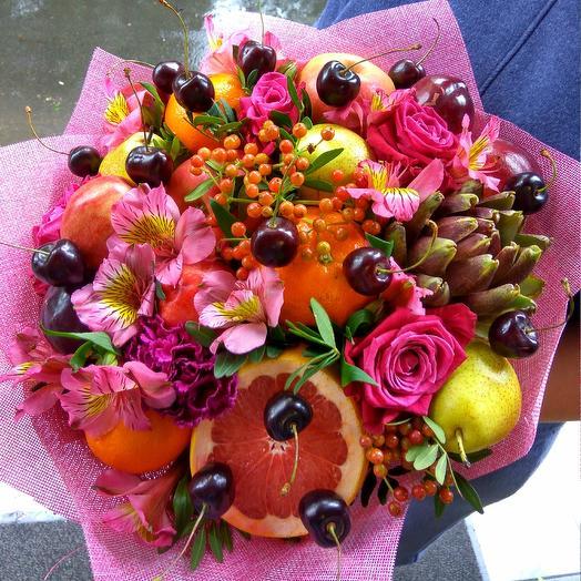 Фруктовое наслаждение: букеты цветов на заказ Flowwow